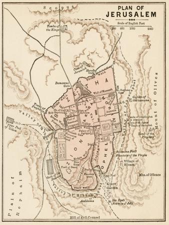 Map of the City of Jerusalem, 1870s