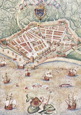 Map of the City of Le Havre, France, 1583