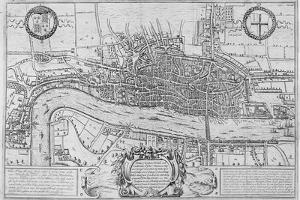Map of the City of London and City of Westminster in C1600, 1708