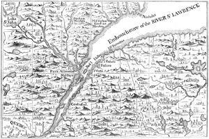 Map of the Course of the River St Lawrence as Far as Quebec, 1730