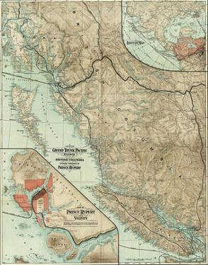 Map of the Grand Trunk Pacific Railway In British Columbia, c.1910