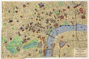 Map of the Heart of London, Published by Francis Chichester