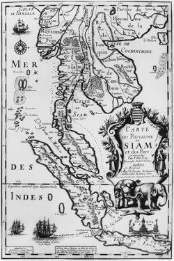 Map of the Kingdom of Siam, Paris, 1686