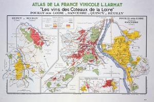 Map of the Loire Region: Pouilly-Sur-Loire