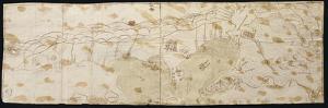 Map of the Maracaibo Lagoon, the Tip of Paraguay, Aruba Island, Curacao and Bonaire, 1552