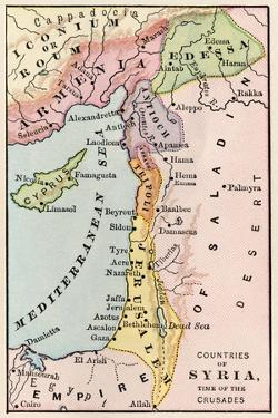 Map of the Middle East at the Time of the Crusades