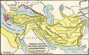 Map of the Persian Empire under Darius I, with Principal Satrapies, About 500 Bc