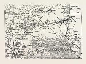 Map of the Seat of War, Egypt, 1882