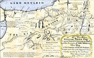 Map of the Six Iroquois Nations in Pennsylvania and New York, 1771