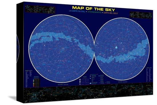 Map of the Sky--Stretched Canvas Print