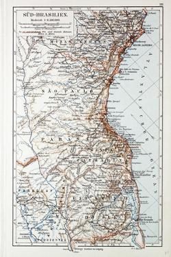 Map of the South of Brazil 1899