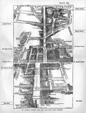 Map of the St. James's and Bond Street Areas of London