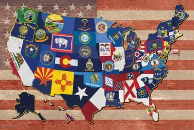 Map Of The Us State Flags