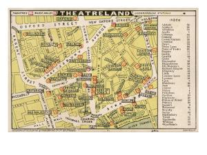 Map of Theatres in London Theatreland