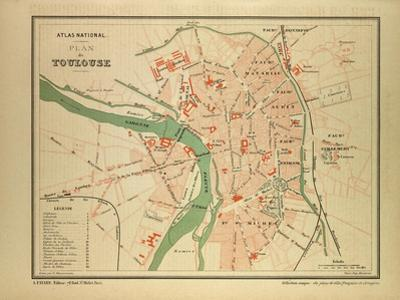 Map of Toulouse France