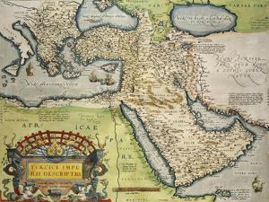 Map of Turkey, from Theatrum Orbis Terrarum, 1528-1598, 1570
