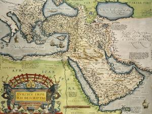 Map of Turkey, from Theatrum Orbis Terrarum, 1528-1598, 1570