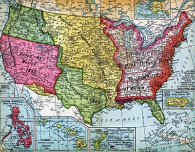 Map of United States Expansion