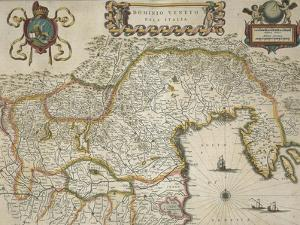 Map of Venetian Domain, from Regionum Italiae