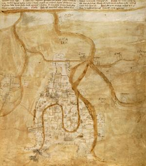 Map of Venice, 1345