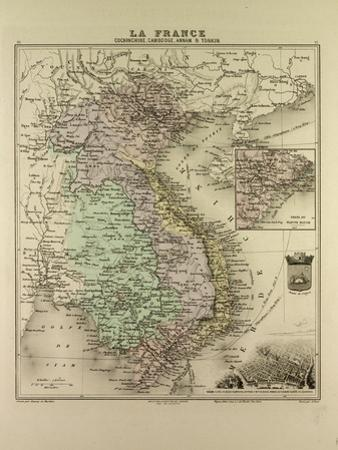Map of Vietnam Cambodia Thailand Laos 1896
