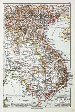 Map of Vietnam Cambodja Laos, 1899