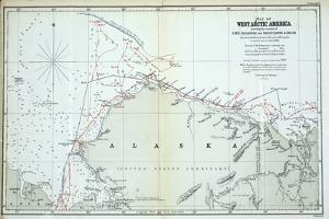 Map of West Arctic America Showing the Tracks of HMS Enterprise and Investigator in 1850-1854