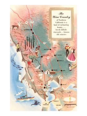 Map of Wine Country