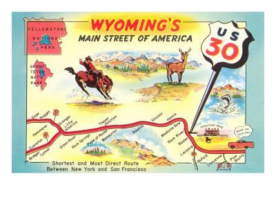 Maps Of Wyoming Posters At AllPosterscom - Wyoming highway map