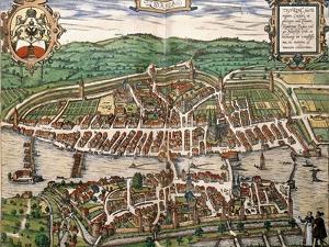 Map of Zurich, 1575