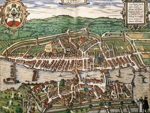 Map of Zurich, 1575