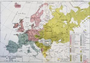 Map Showing the Spread of the Indo-European Languages in Europe