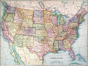 Map: United States, 1905