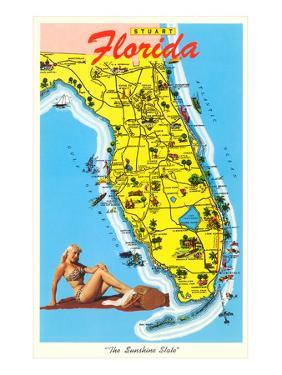 Map with Florida Attractions