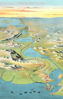 Mapof the Suez Canal