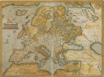 Mappa Europa - Antique Style Europe Map Poster