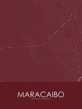 Maracaibo, Venezuela(Bolivarian Republic of) Red Map