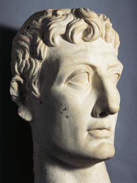 Marble Bust of Roman Emperor Augustus Gaius Julius Caesar Octavianus, AD 40-60, from Athribis