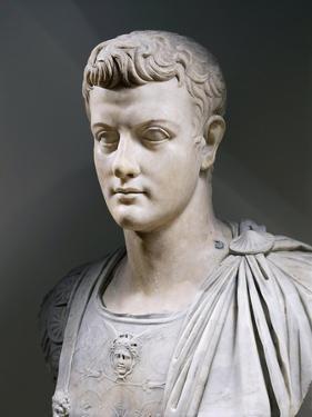 Marble Bust of Roman Emperor Gaius Julius Caesar Augustus Germanicus