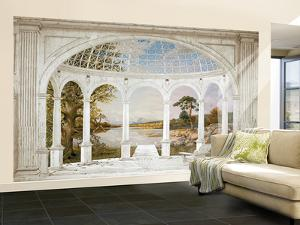 Marble Column Portico Large Huge Mural Art Print Poster