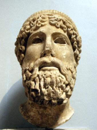 Marble Head, Probably of the Ancient Greek God Zeus, Possibly 1st Century Bc