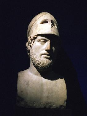 Marble Portrait Bust of Perikles, Athenian Statesman (C490-429 B), Roman, 2nd Century Bc