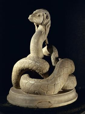 Marble Sculpture Depicting Glycon Serpent, from Tomi, Today Costanza