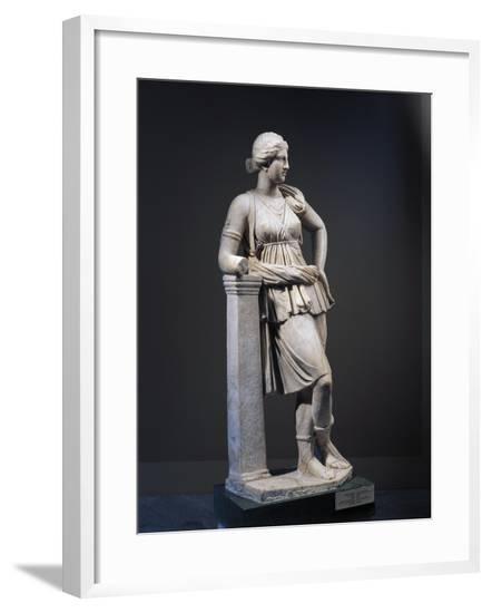 Marble Statue of Artemis, Copy of Greek Original of 4th Century B.C.--Framed Giclee Print