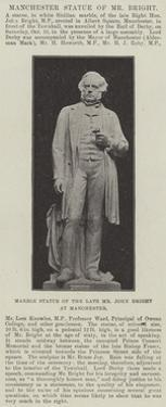 Marble Statue of the Late Mr John Bright at Manchester