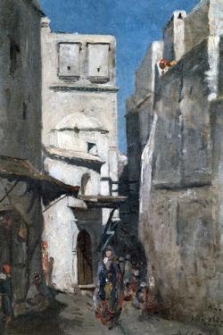 Street in Algiers, C1864-1892 by Marc Alfred Chataud