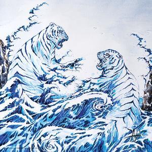 Marc Allante- Blue Tigers by Marc Allante