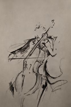 The Cellist Sketch by Marc Allante