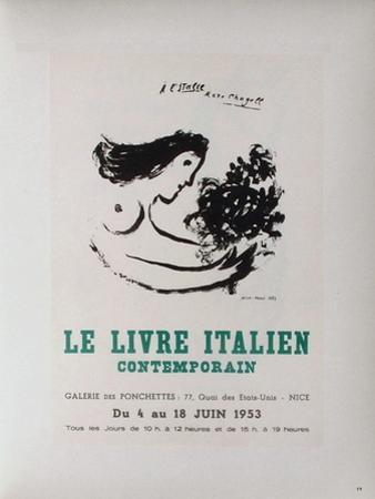 AF 1953 - Le IIvre ItaIIen by Marc Chagall