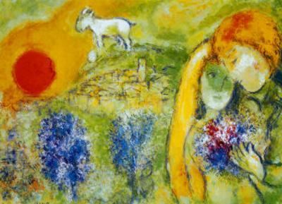 Amoureux de Vence by Marc Chagall